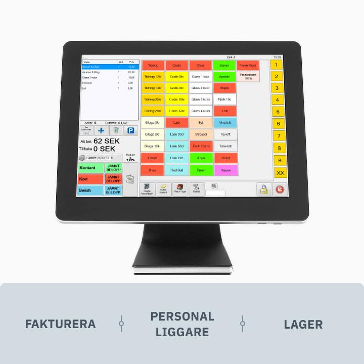 ES Kassasystem Premium med Fakturera, Personal Liggare och Lager - V2