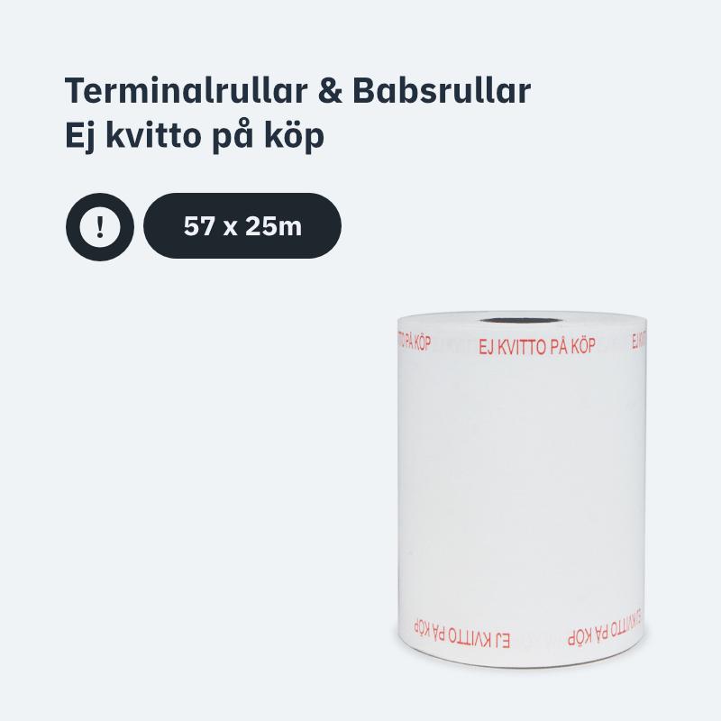 Terminalrullar & Babsrullar - Ej kvitto på köp 57x25