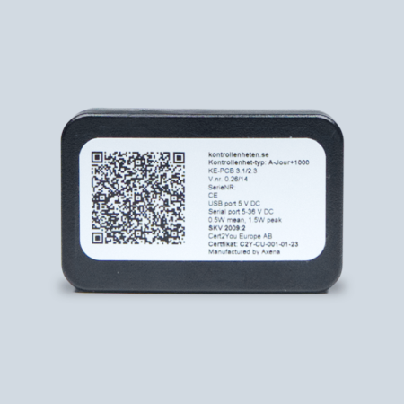 En certifierad kontrollenhet för SAM4S kassaregister.