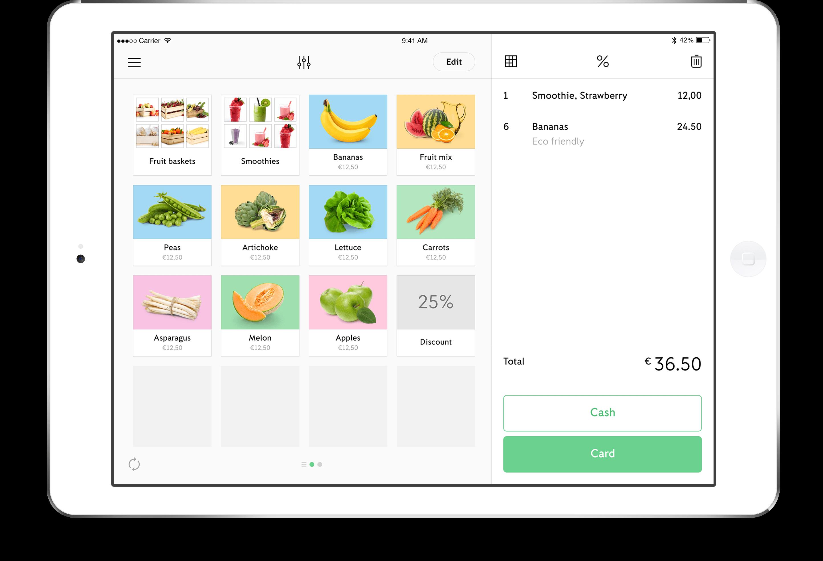 iZettle GO med iPad