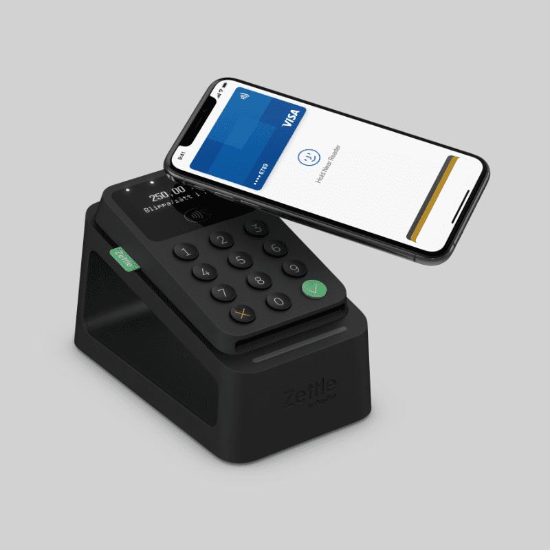 Zettle Card Reader 2 Svart med Dock och iPhone