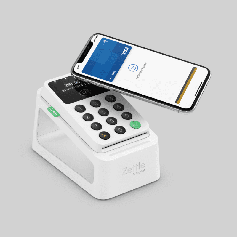 Zettle Card Reader 2 med Dock och iPhone