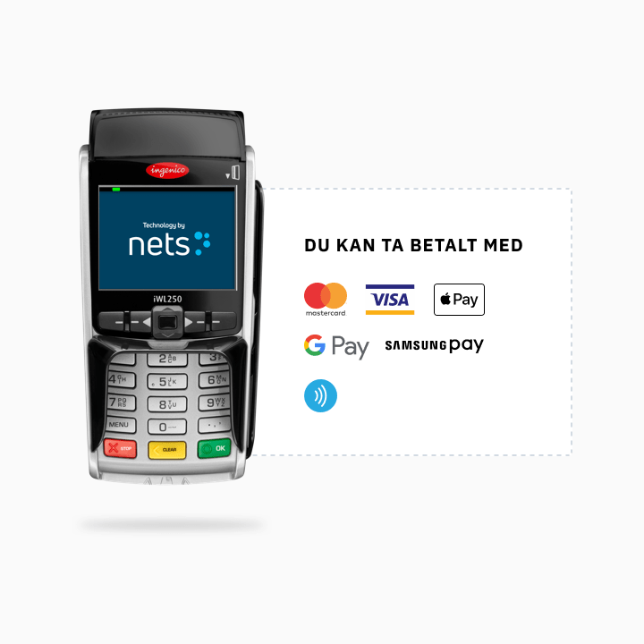 NETS iWL250 Betalterminal
