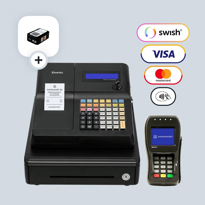 SAM4S ER-260EJ med kontrollenhet, stöd för Swish betalningar och WESTPAY betalterminal