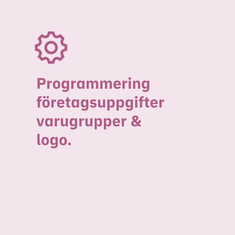 Valei programmering företagsuppgifter varugrupper & logo