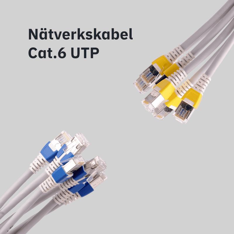 Nätverkskabel Cat. 6 UTP